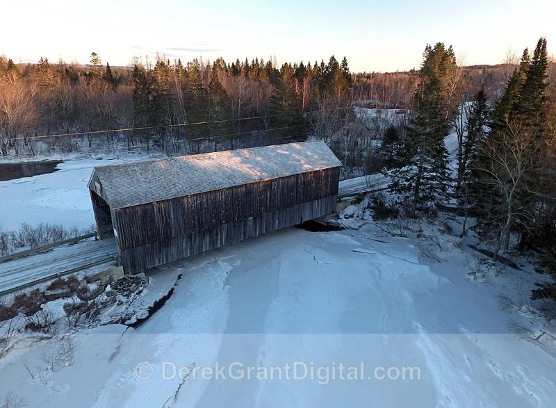 Digdeguash #6 Covered Bridge Dumbarton 1928 - Covered Bridges of New Brunswick