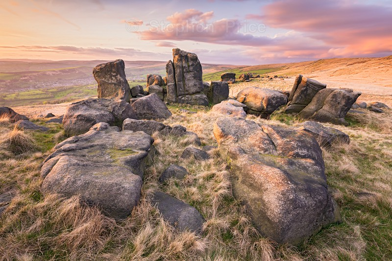 The Kinder Stones | Saddleworth Moor Sunset Photography