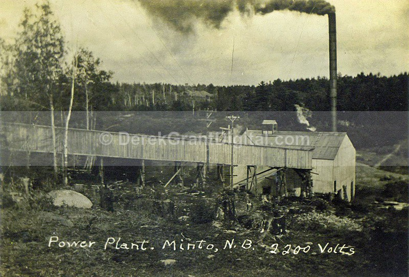 Minto Power Plant 2200 Volts New Brunswick Canada - Historic New Brunswick