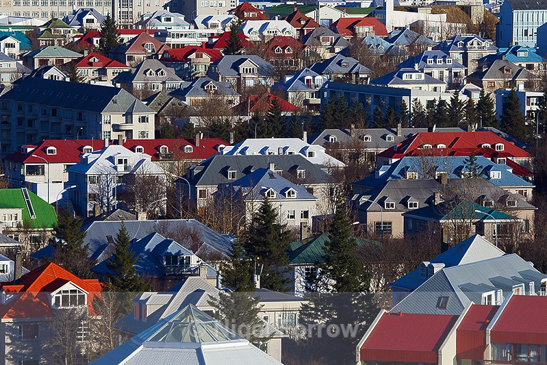 Colourful Roofs of Reykjavik - Iceland