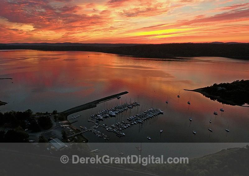 RYC Kennebecasis Bay Rothesay New Brunswick Canada Sunset - Sunset/Moonrise