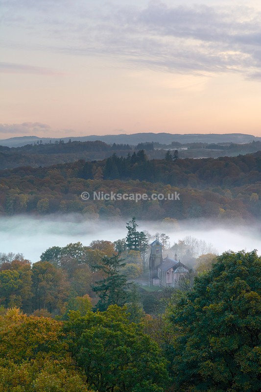 Photo of the Holy Trinity Church at Brathay | Lake District Autumn Mist