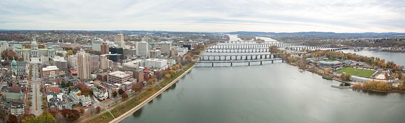 Harrisburg Aerial Panoramic 1 - Harrisburg Area, Pennsylvania