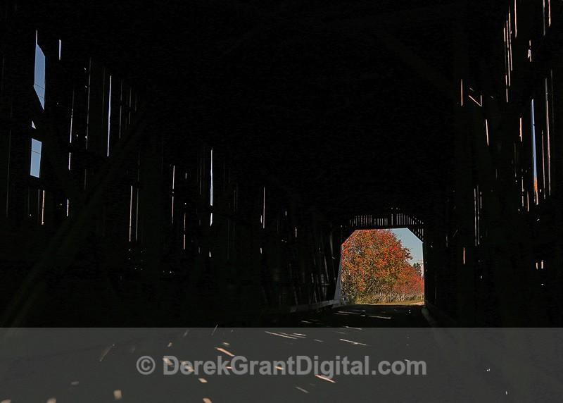Kennebecasis #7.5 Covered Bridge - interior - Covered Bridges of New Brunswick