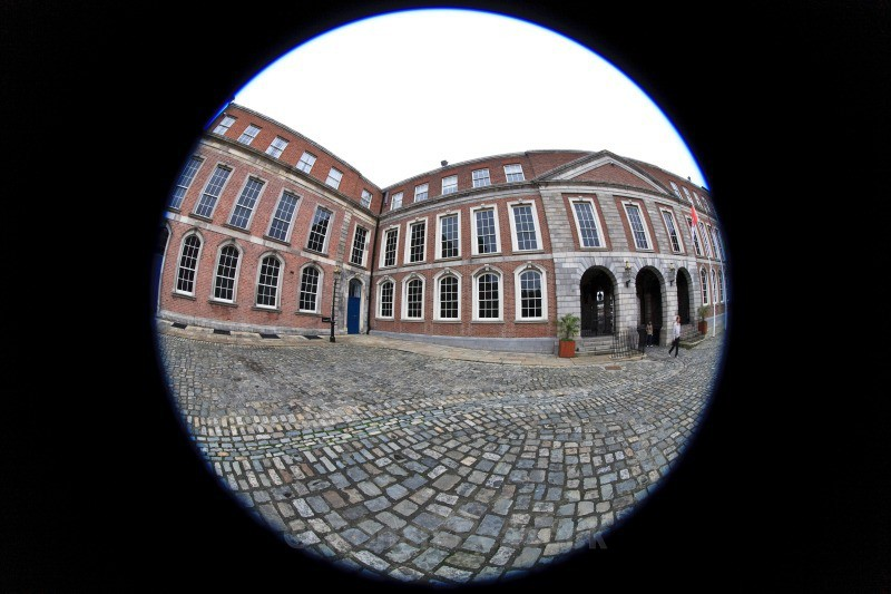 Great Courtyard - Dublin - through a fisheye lens