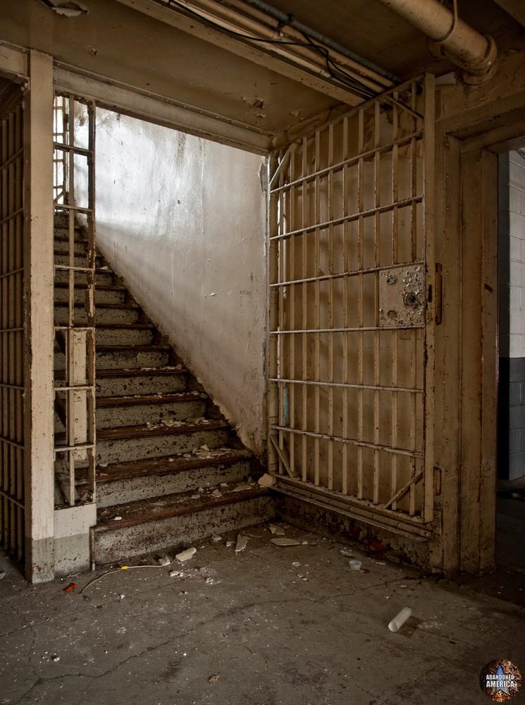 Essex County Jail Annex (Caldwell, NJ) | Infirmary Stairway - Essex County Jail Annex