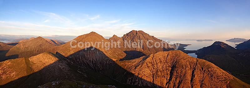 Bla Bheinn & The Red Cuillin from Marsco, Isle of Skye2 - Panoramic format