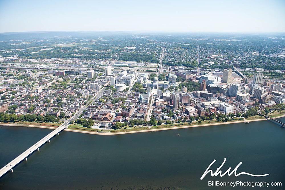 Harrisburg PA Aerial facing East - Harrisburg Area, Pennsylvania