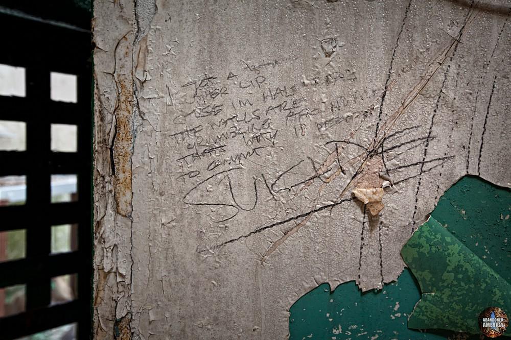 Cell writing, Holmesburg Prison, Philadelphia PA | Abandoned America by Matthew Christopher