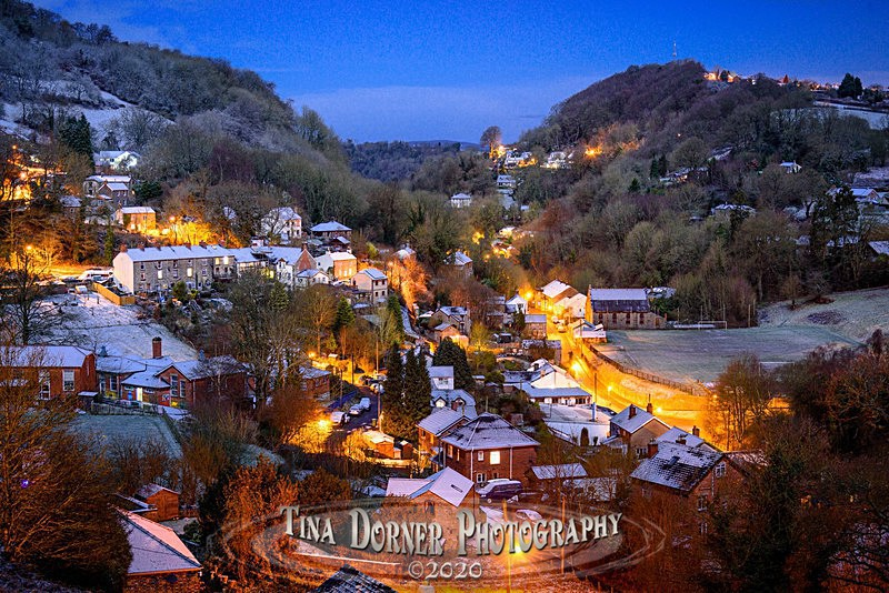 Night Snow in Lydbrook, Gloucestershire by Tina Dorner Photography