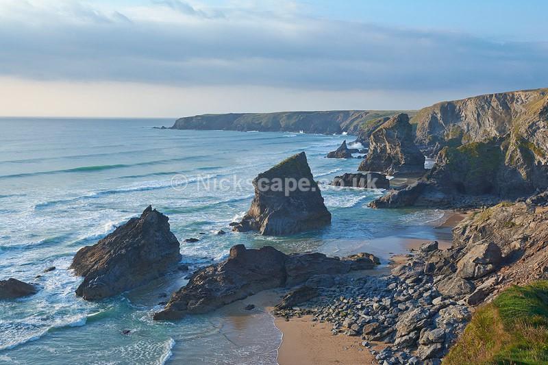 Bedruthan Steps Landscape - Cornwall UK - Cornwall