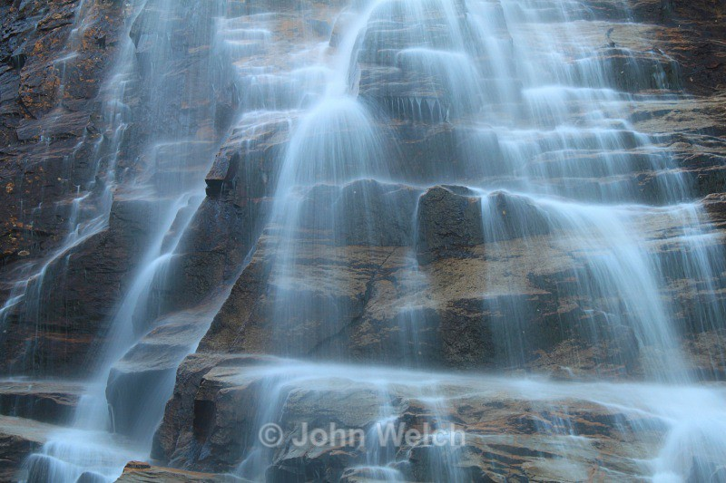 Detail in Arethusa Falls - White Mountain National Forest and Northern New Hampshire