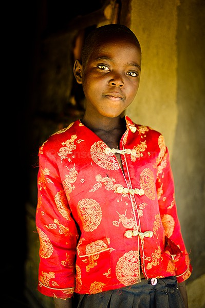 Lady in Red, Gulu, Uganda