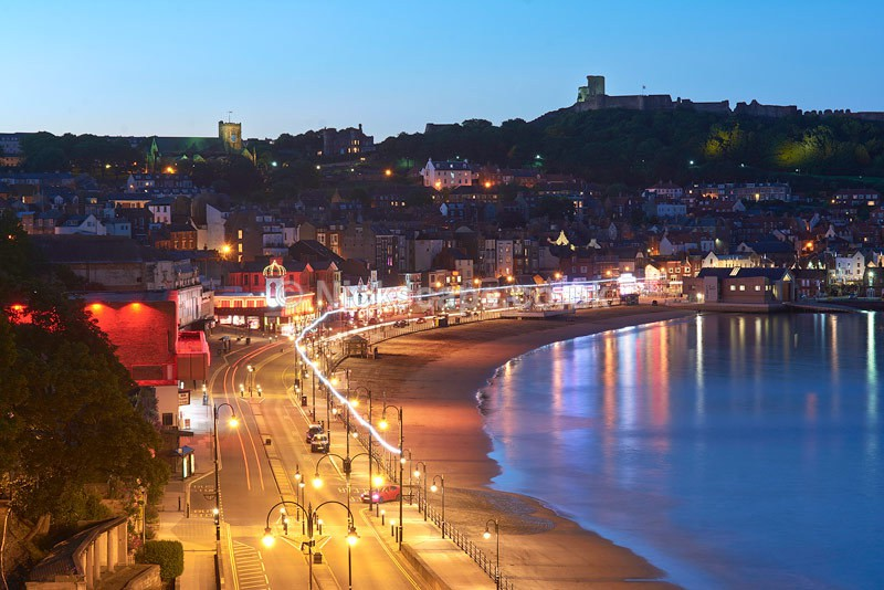 Scarborough South Bay Promenade at Night - Yorkshire Coast - Yorkshire