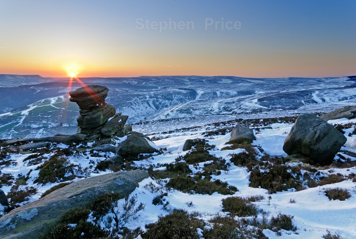 Peak District Snow in April | Salt Cellar, Derbyshire, Sunset