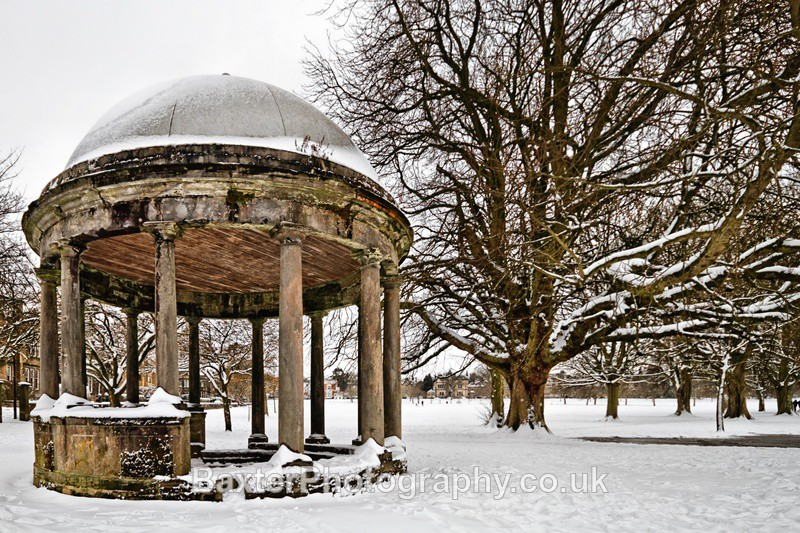 *A best seller. Spring Snow At The Tewit Well - Harrogate Town