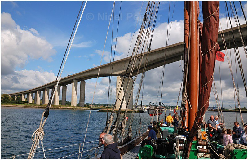 Passing Orwell Bridge - The Pin Mill Barge Match