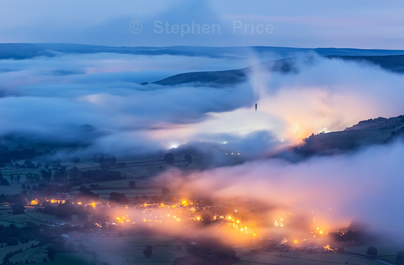 Mist from Mam Tor - Photos of the Peak District