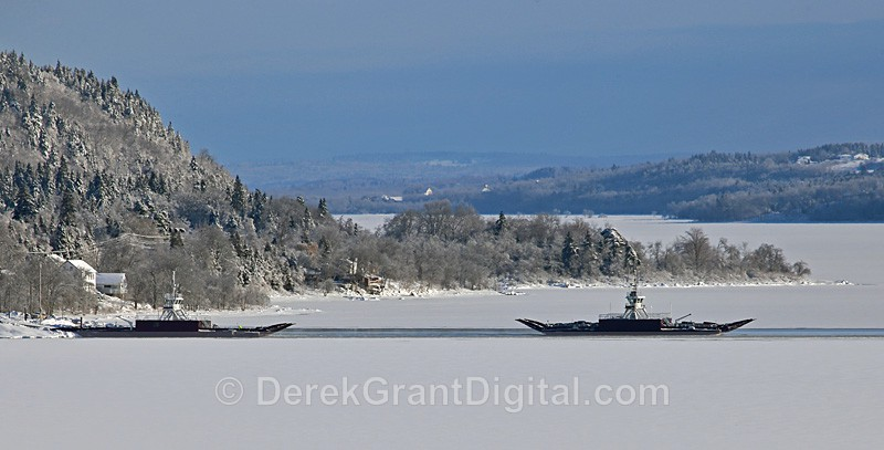 Winter Wonder River - Gondola Point Ferries Reeds Point New Brunswick - The Great Ice Storm of 2013