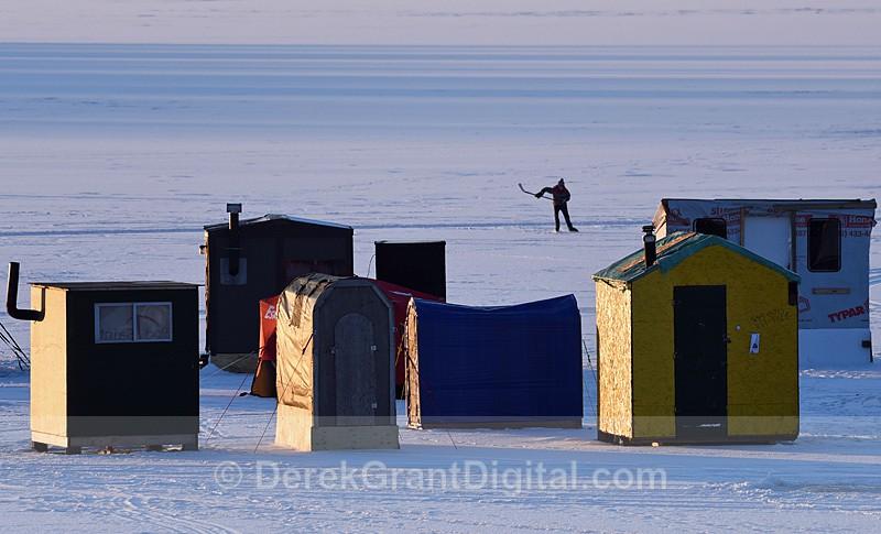 Ice huts New Brunswick Canada - Ice Shacks