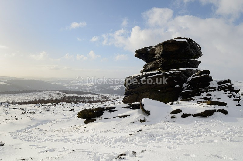 Mother Cap Snow - Owler Tor - Peak District, UK - Peak District Landscape Photography Gallery