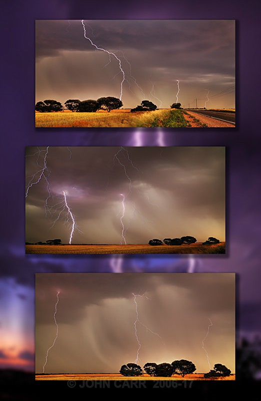 Triple Tall Strikes Triptych - MONTAGES