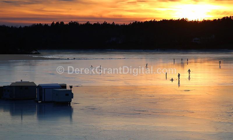 Ice Fishing Huts Renforth Rothesay New Brunswick Canada - Rothesay
