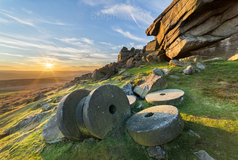 Millstones at Stanage Edge| Peak District Sunset