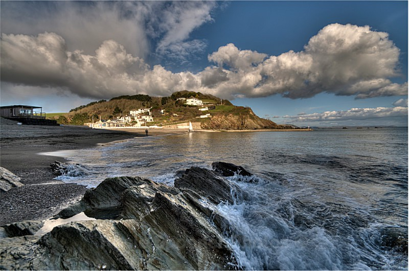 Late springtime evening at Millendreath - Looe in Cornwall