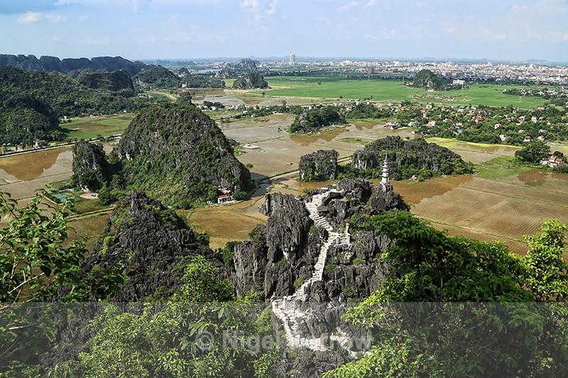 View across to Ninh Binh, Tam Coc, Vietnam - Vietnam