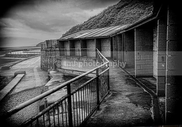 Disused Beach Chalets - Monochrome Photograph's