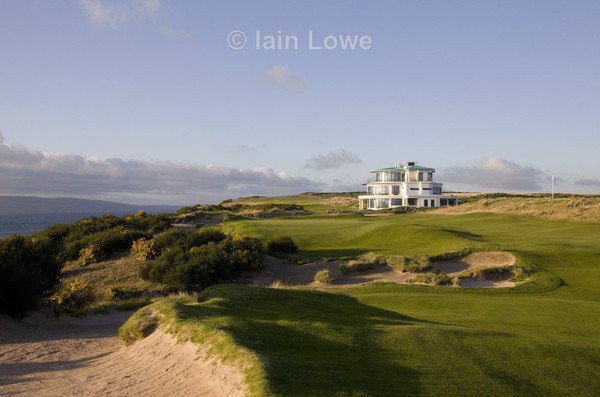 Castle Stuart 9th Approach  Clubhouse - Castle Stuart Golf Links