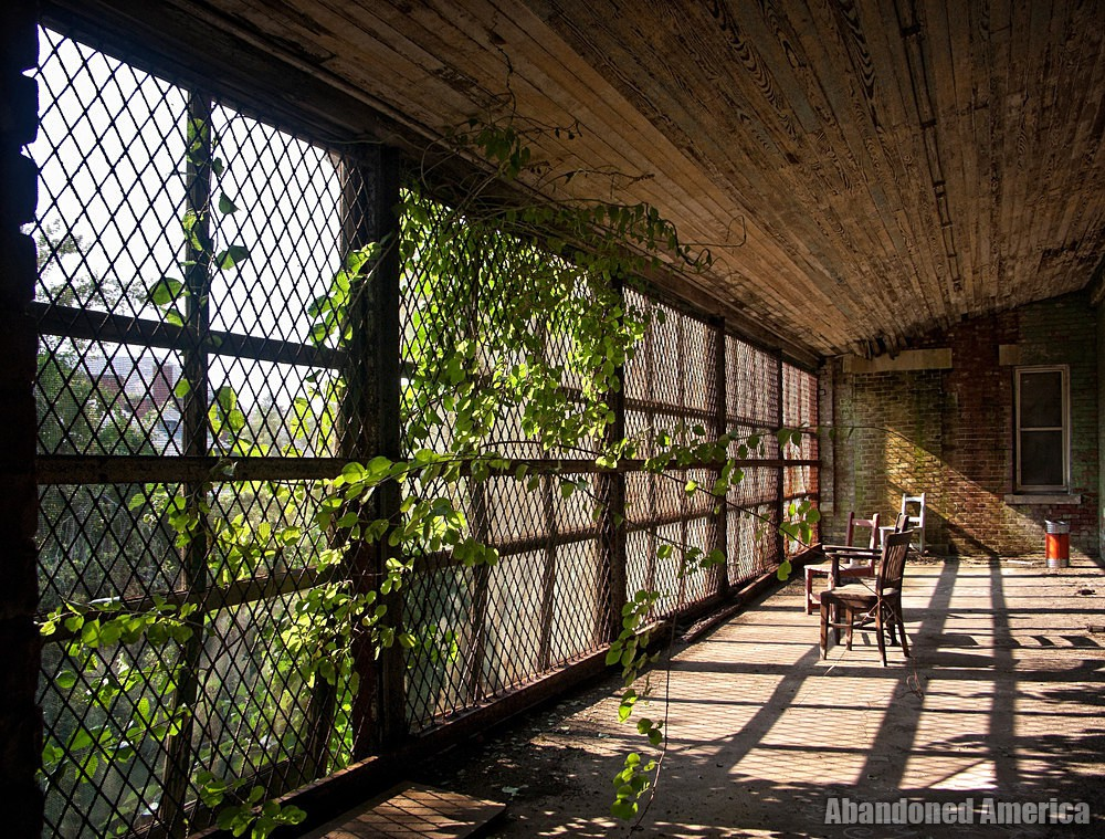 Enclosed Balcony   Norwich State Hospital