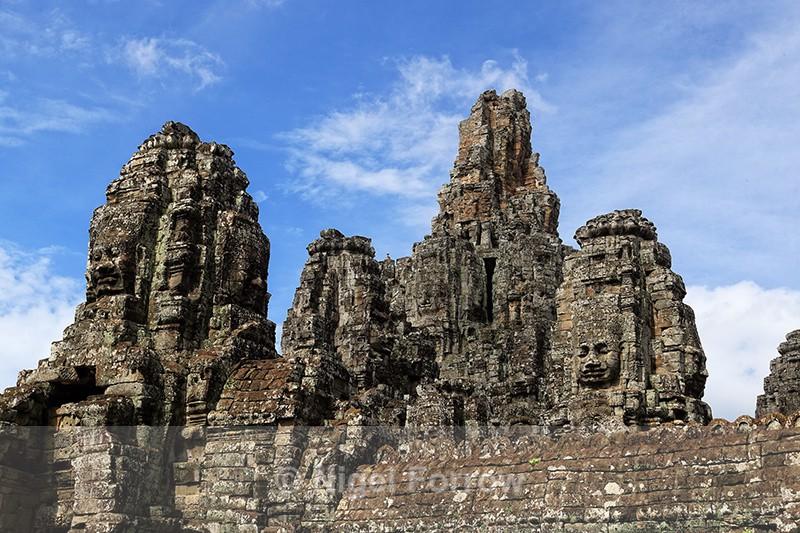 Towers at Bayon, Angkor Thom, Cambodia - Cambodia