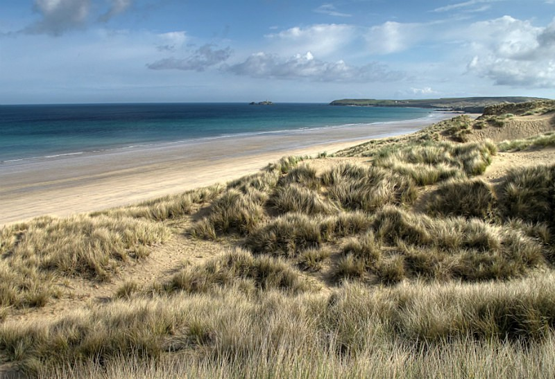 CW05 - Hayle sand Dunes looking towards Godrevy Lighthouse - GREETINGS CARDS - Cornwall Misc and Plymouth