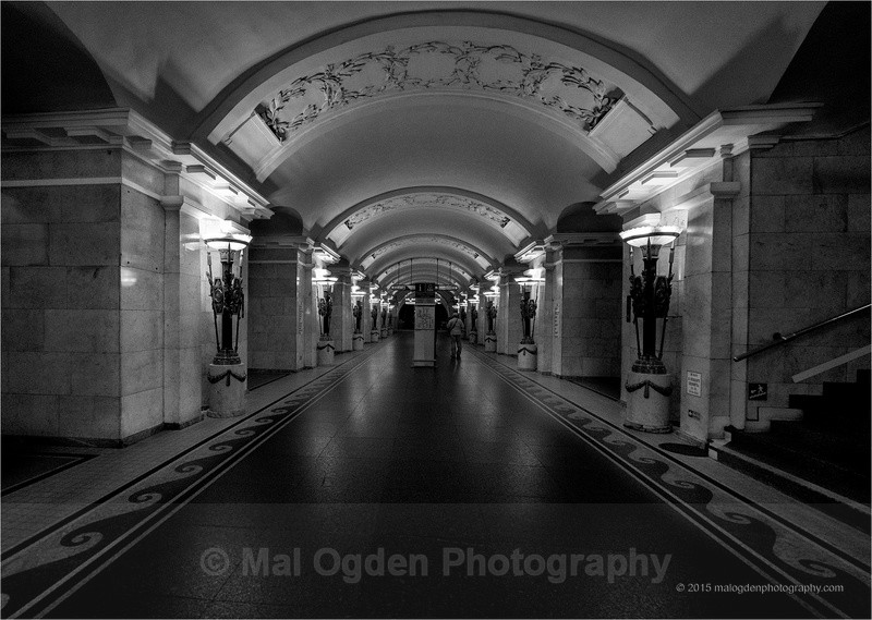 St Petersburgh Metro - Black & White/Monochrome