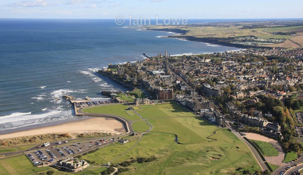 St Andrews  The Old Course Aerial 66 X 38 inches - The Biggest Pictures