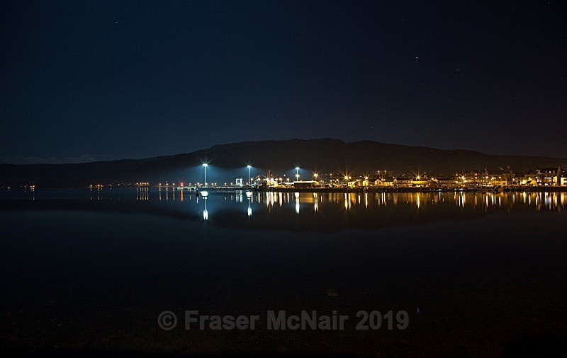 Campbeltown Harbour Reflections - Night Photography
