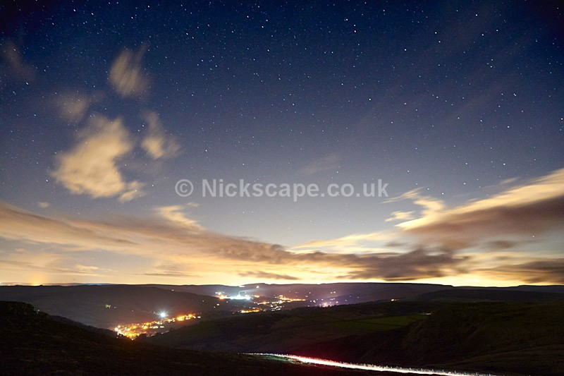 Night Sky above Hathersage - Peak District Astro Photography