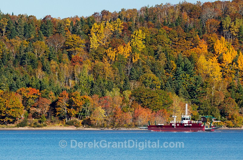 Belleisle Cable Ferry - New Brunswick Autumn Foliage - New Brunswick Autumn Foliage