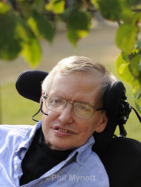 Prof Stephen Hawking photographic portrait Photographer photo professional London UK