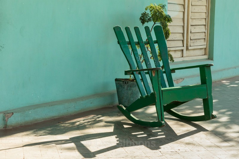 green chair shadow - Cuba