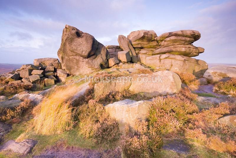 Over Owler Tor Gristone Rock Formation Fine Art   Peak Park Landscape Photography