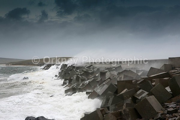 Barriers stormy - Orkney Images