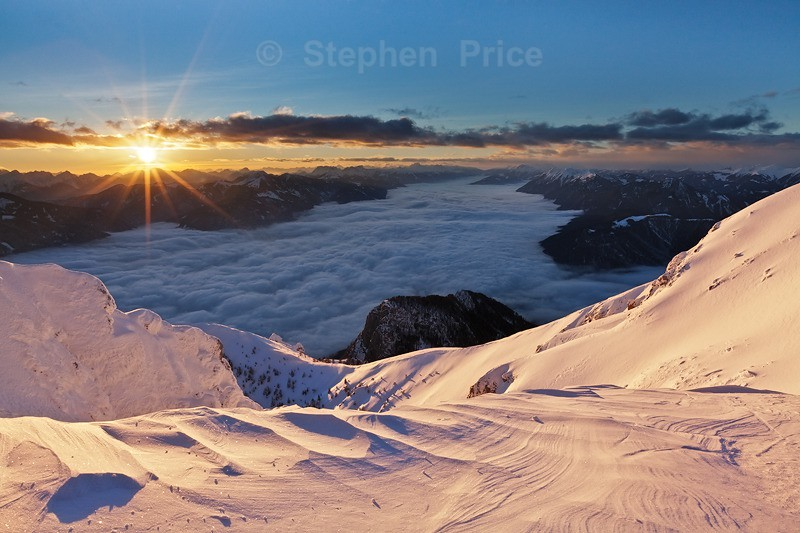 Winter Mountain Sunset | Villacher Alpe Austria Landscape