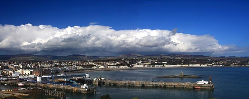 Storm clouds gathering over Douglas - Panorama of Man