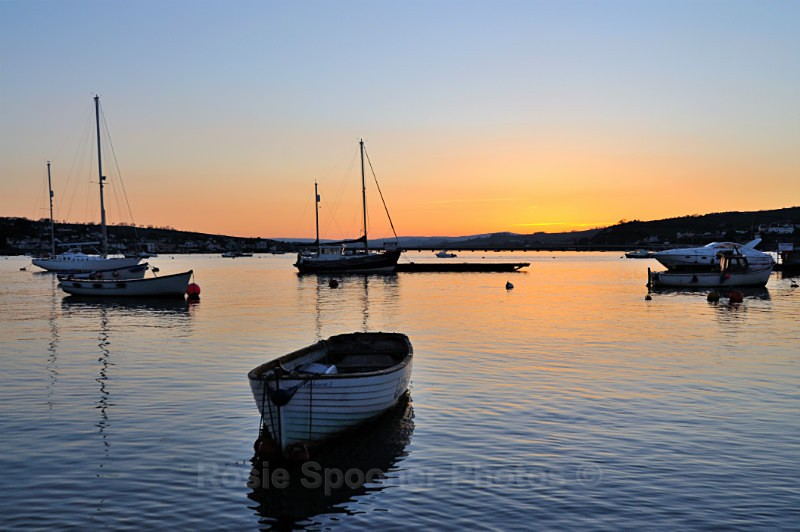 TS24 - Beautiful sunset over Teignmouth and Shaldon - Greetings Cards Teignmouth and Shaldon
