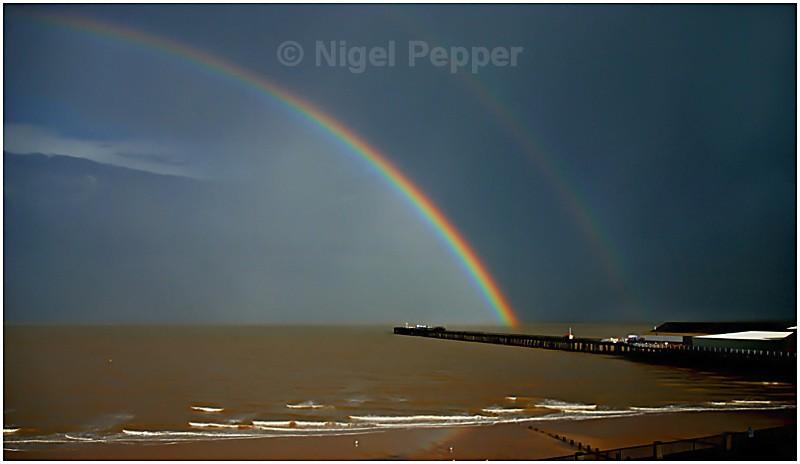 Pier Rainbow - Dramatic Weather