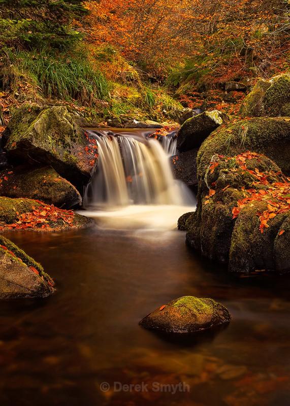 Waterfall In Autumn - Co. Wicklow