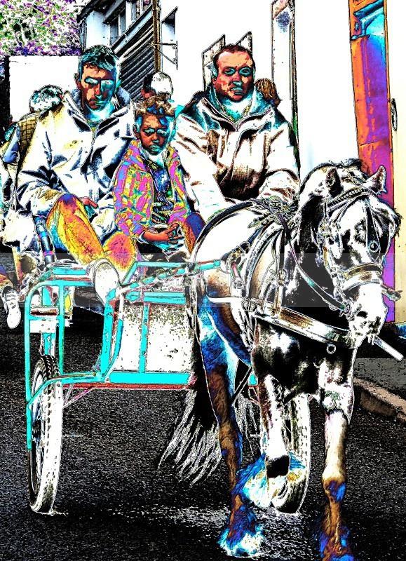 3 on a Cart - Appleby Horse Fair